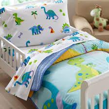 dinosaurland blue green dinosaur toddler bedding comforter sheet set or bed in a bag