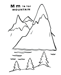 mountain coloring pages free alphabet lion pictures