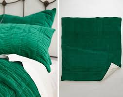 stitched velvet bedding
