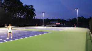 Post Tensioned Tennis Court Design City Serves Up A New Tennis Court Concrete Construction