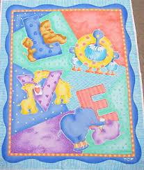 fleece fabric baby - fleece prints panels - cotton flannel fabric ... & Baby Love Nursery Quilt Fabric Panel Adamdwight.com