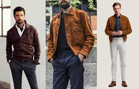 men are spoilt for choice when it comes to pairing bottoms with a brown leather jacket for trousers it s best to go for grey blue or black especially if