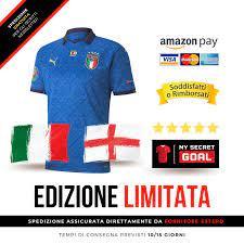Maglia Finale Italia - Inghilterra in Edizione Limitata con Patch Euro – My  Secret GOAL