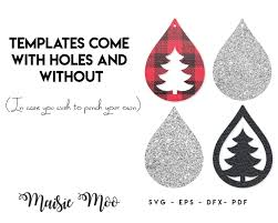 Free printable snowflake templates, patterns, stencils, and designs that you can use for christmas ornaments, decorations, or as coloring pages. Christmas Tree Earrings Svg Free Disney Christmas Tree Svg Dxf Png Mickey Mouse Head Ears Cut Files