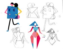 Character Design Shapes Character Design With Geometric Shapes On Sva Portfolios