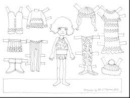 Paper Doll Coloring Pages Printable Paper Doll Coloring Page Paper