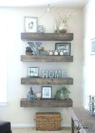 3 floating shelves placement ideas of rustic white reclaimed wood dark walnut shelf wall mixed concept