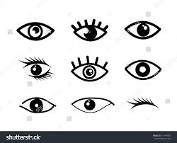 Eye Designs Eye Designs Over White Background Vector Stock Vector