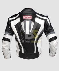 yamaha hump black white motorcycle stylish jacket
