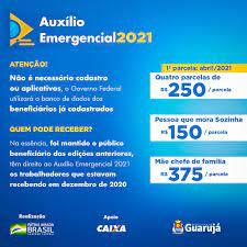 Ministério da Cidadania começa a pagar auxílio emergencial 2021 |  Prefeitura Municipal de Guarujá