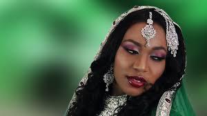 burgundy silver asian bridal makeup tutorial for indian stani wedding video dailymotion urdu