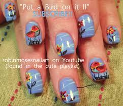 Nail Art Tutorial   DIY easy Bird Nails   Rainbow Birds Nail ...