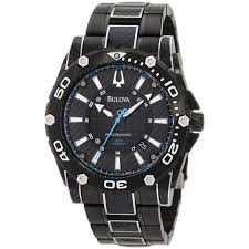 bulova men s 98b153 precisionist champlain diver black stainless bulova men s 98b153 precisionist champlain diver black stainless steel carbon fiber quartz watch