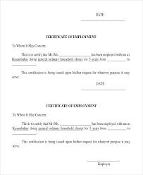 Employee Certificate Of Service Template Australia Sample