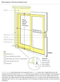sliding door rough opening sliding glass door measurements sliding glass door height standard sliding glass door