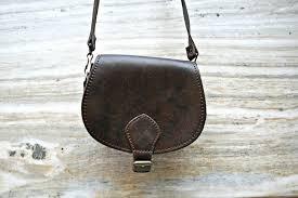 cross bag leather handbag leather shoulder bag vintage dark brown purse boho purse hippie bag leather purse woman purse