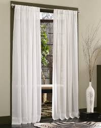 Striped Living Room Curtains Living Room Double Layered White Sheer Curtain In Single Panels