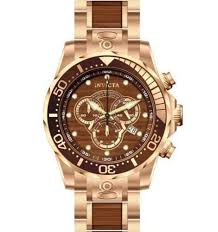 invicta mens watch rose gold