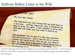 Sullivan Ballou Letter to his Wife