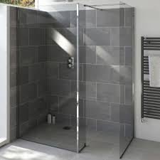 armano 1400 shower glass panel with wall profile