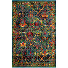 safavieh cherokee blue red 8 ft x 10 ft area rug
