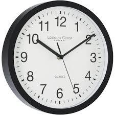 simple black sweeping wall clock 25 5cm