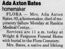Ada Effie Axton Bates (1898-1990) - Find A Grave Memorial