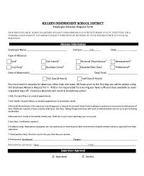 Leave Of Absence Form Template 9 Absence Report Templates Word Free Premium Form Template