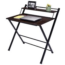 com wakrays 2 tier folding computer desk home office furniture workstation table student study kitchen dining