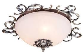 Casa Padrino Barock Deckenleuchte Antik Bronze Weiß ø 42 X H 16 Cm Barock Deko Accessoires
