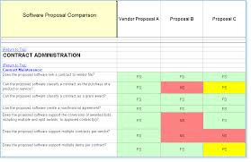 Vendor Comparison Chart Template System Comparison Software Evaluation Rfp Templates