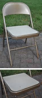 fabulous metal folding chair makeover jacquelynne steves spray paint metalpainted