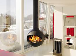 Free-standing Wood-burning Stove And Fireplace – Fresh Design Pedia