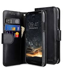 mini pu leather cases wallet book clear type for apple iphone 8 black pu