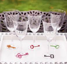 skeleton key wine charms