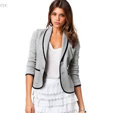 Light Gray Blazer Womens Us 10 85 15 Off Us Stock New Fashion Spring Autumn Women Short Blazer Turn Down Collar Slim Blaser Feminino Candy Color Jacket Coat Cargidans In