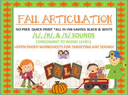 Fall Into Great Speech Therapy Ideas During The Fall-Themed ...