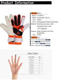 Goalkeeper Glove Size Chart Amazon Com Youth Adult Goalie Goalkeeper Gloves Strong Grip