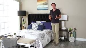 Skyline Bedroom Furniture Skyline Tufted Wingback Headboard Product Review Video Youtube