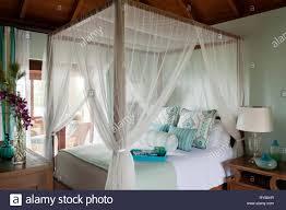 Coastal Schlafzimmer Mit Himmelbett Im Tamarind Cove Antigua