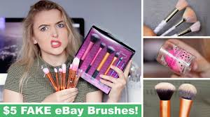 testing fake ebay makeup brushes fail