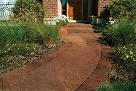 Valspar Solid Concrete Stain Color Chart Transform Sidewalks With The Look Of Stone Shown In Vaquero