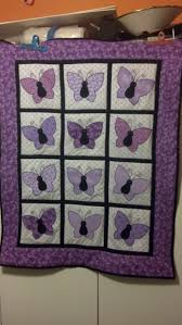Best 25+ Butterfly quilt pattern ideas on Pinterest | Butterfly ... & Vintage purple butterflies Notice the setting: center is upright and outer  rows tilted out. Adamdwight.com