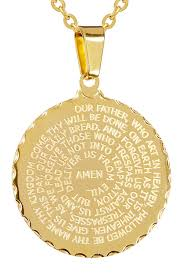 english lord s prayer disc pendant necklace