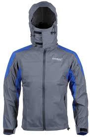 Striker Ice Elements Mens Axiom Rain Jacket Gray Blue Size L