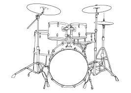 Kleurplaat Drumstel Afb 7002 Kleurplaat Drum Kits Drums En