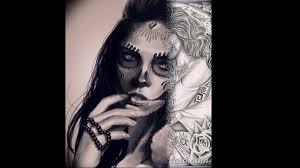 эскизы тату санта муэрто классные рисунки для основы татуировки