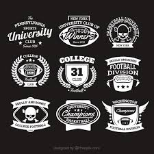 Colleges universities vintage insignias