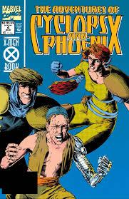 the cover of the adventures of cyclops phoenix 4 marvel ics