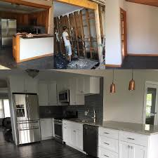 Wonderful kitchen remodel done by @q.s_carpentry